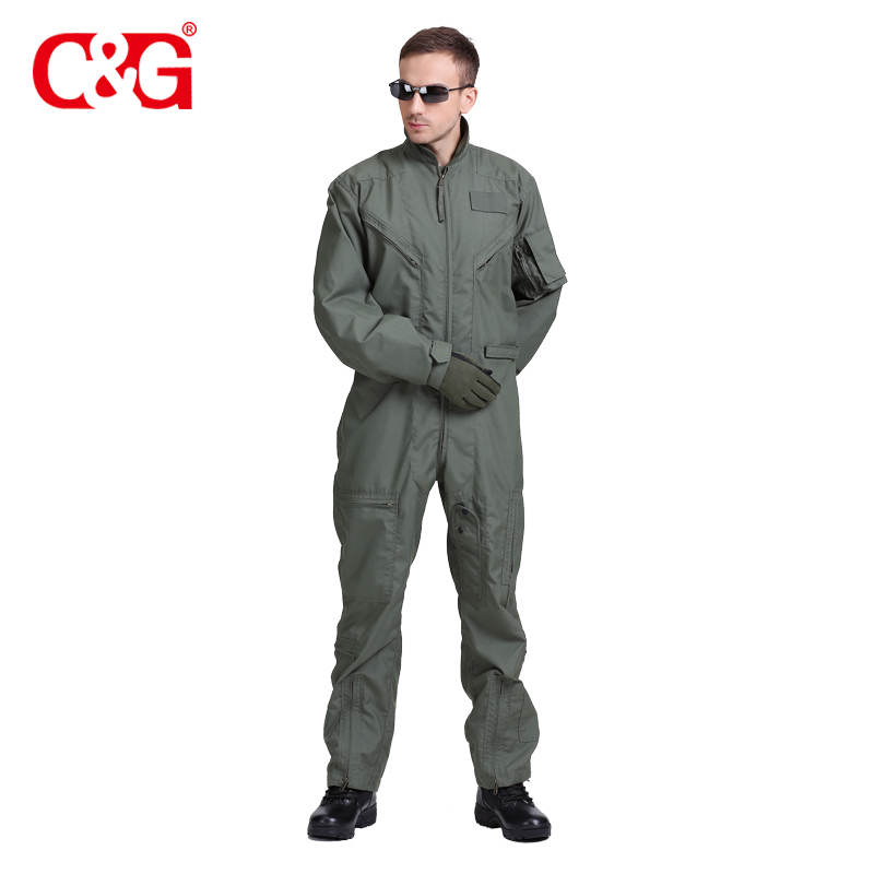 Air force army military sage green flight suit